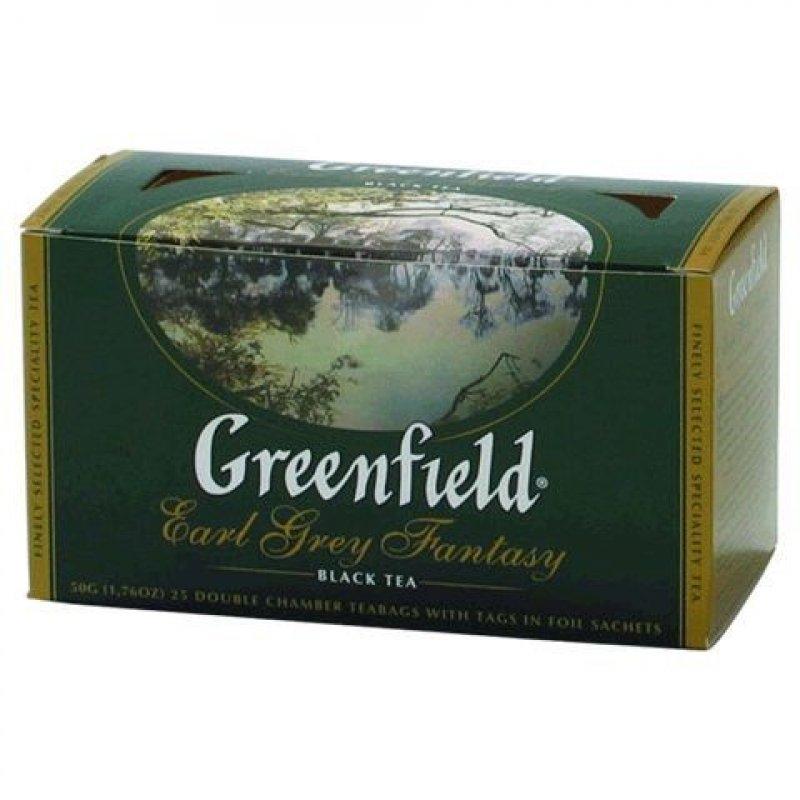 Чай Greenfield Earl Grey Fantasy 25шт в пакетиках черный с бергамотом