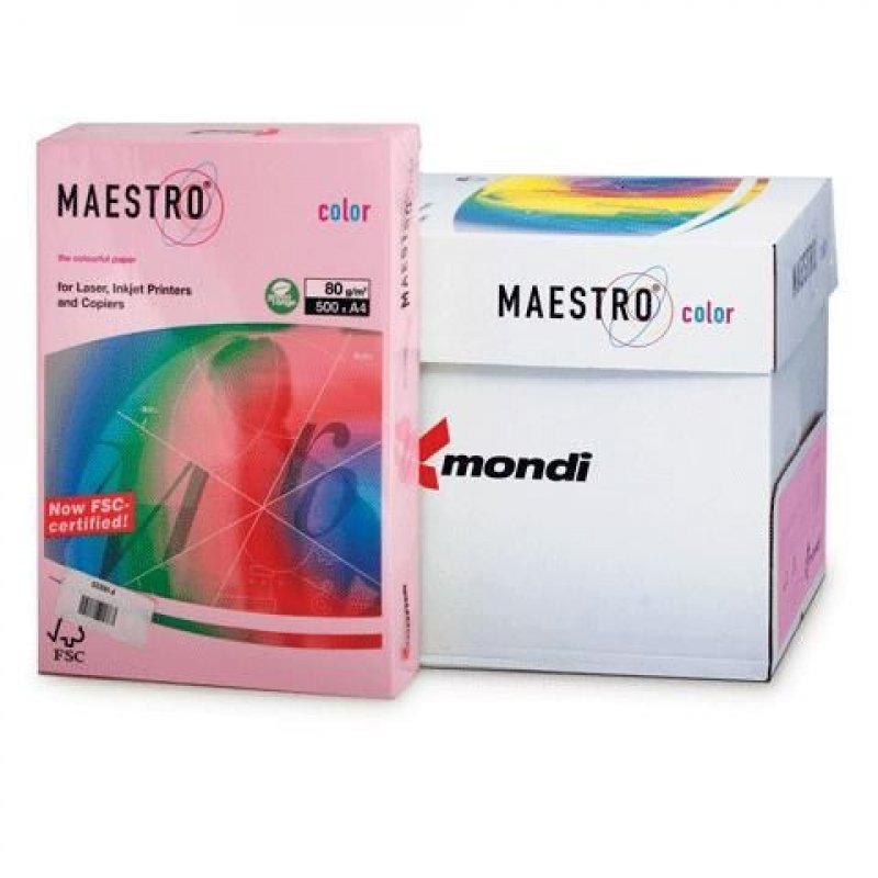 Бумага IQ/Maestro Color А4 80г/м2 500л розовая