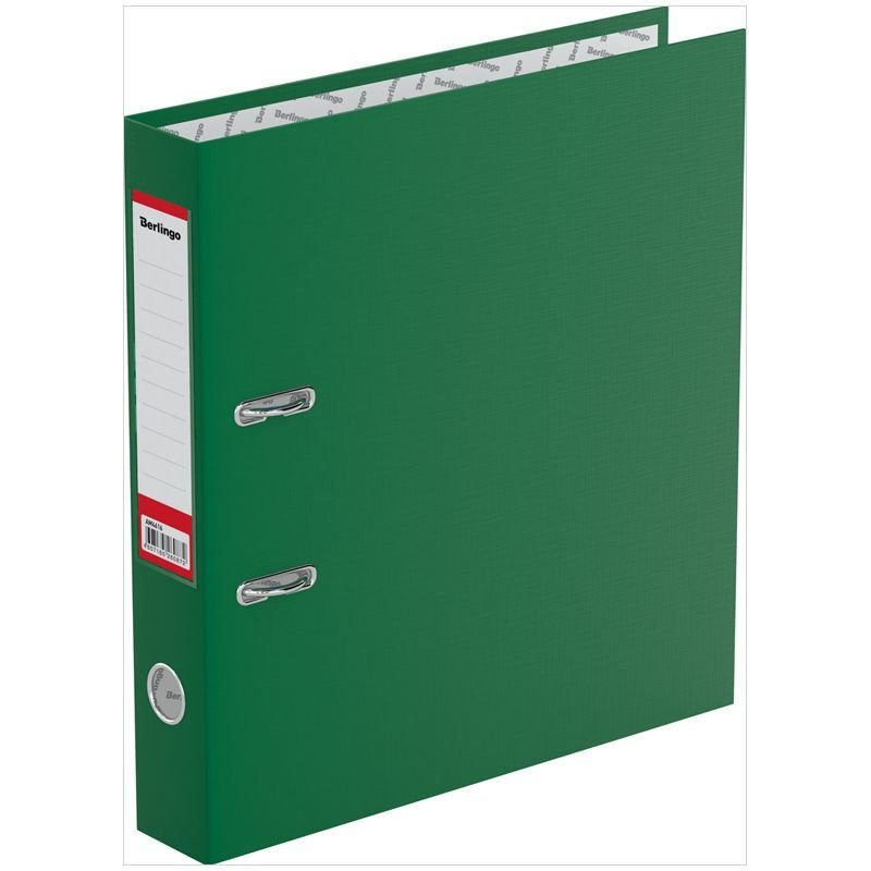 Папка-регистратор 50мм Berlingo Standard бумвинил карман зеленая