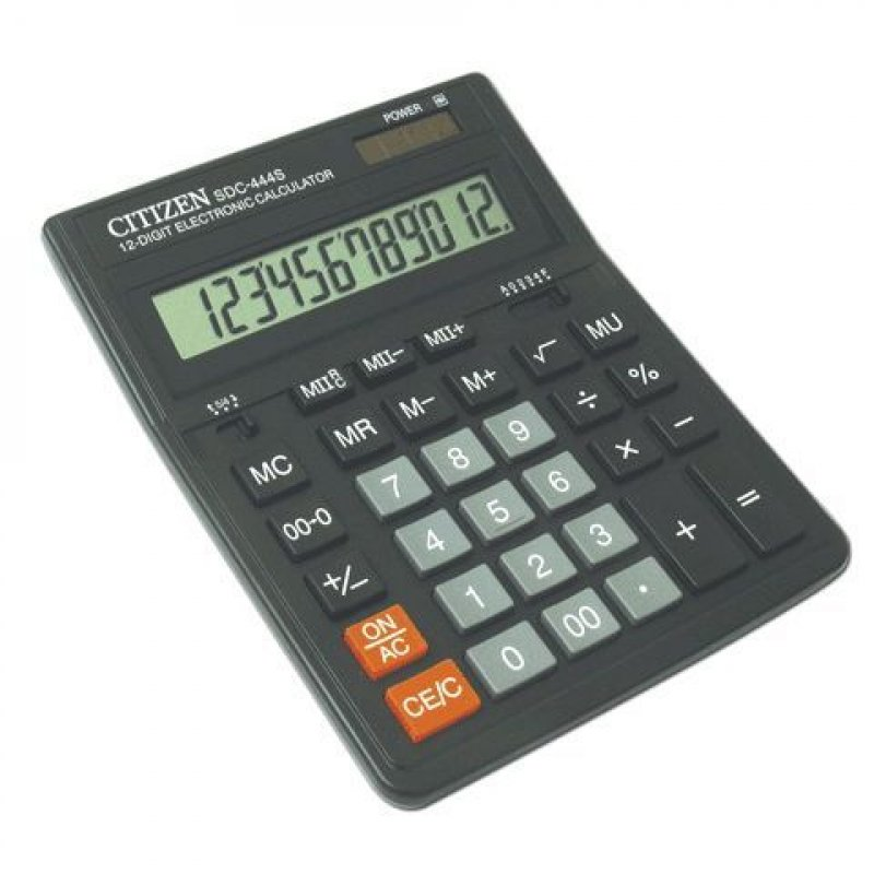 Калькулятор Citizen SDC-444S 199x153мм 12 разр
