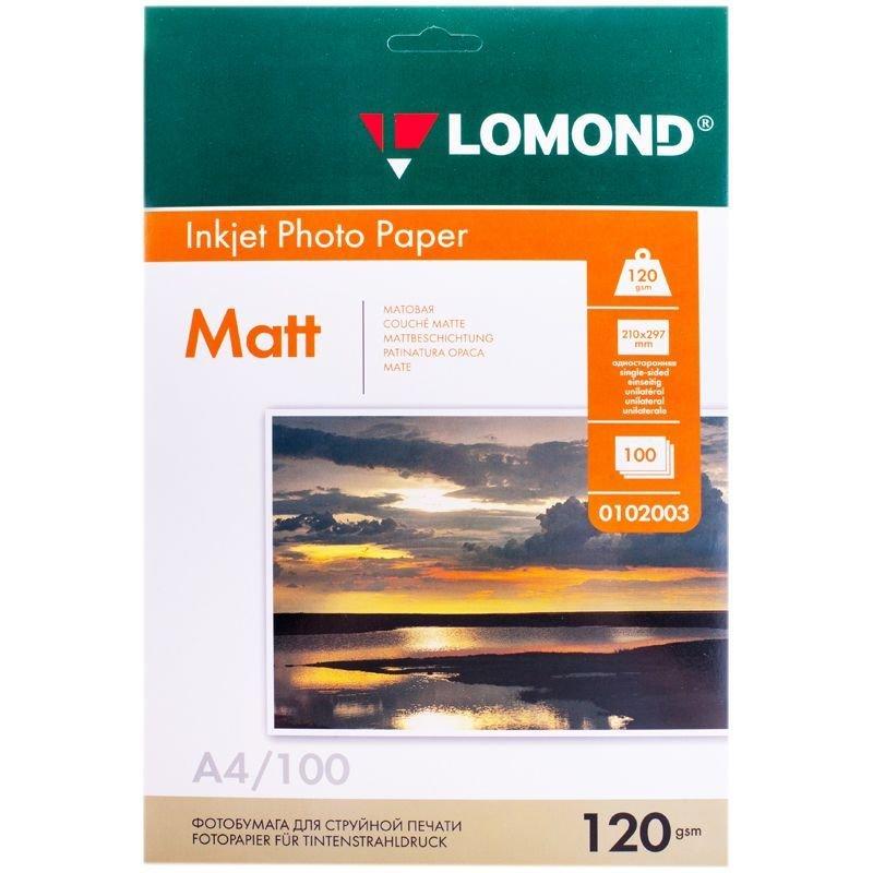 Фотобумага Lomond А4 120г/м2 100л односторонняя матовая