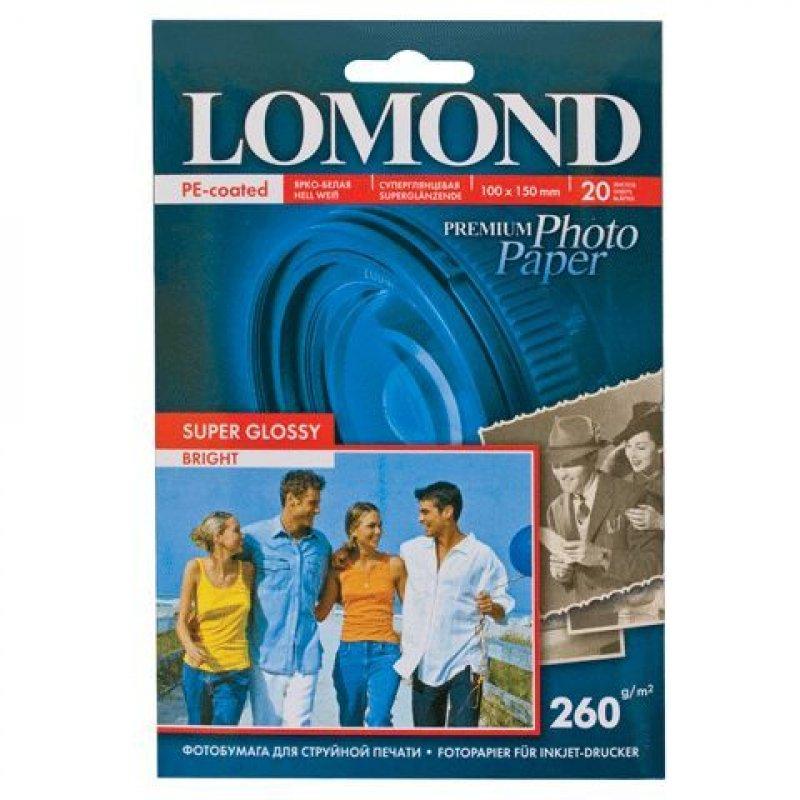 Фотобумага Lomond А4 270г/м2 20л односторонняя суперглянцевая
