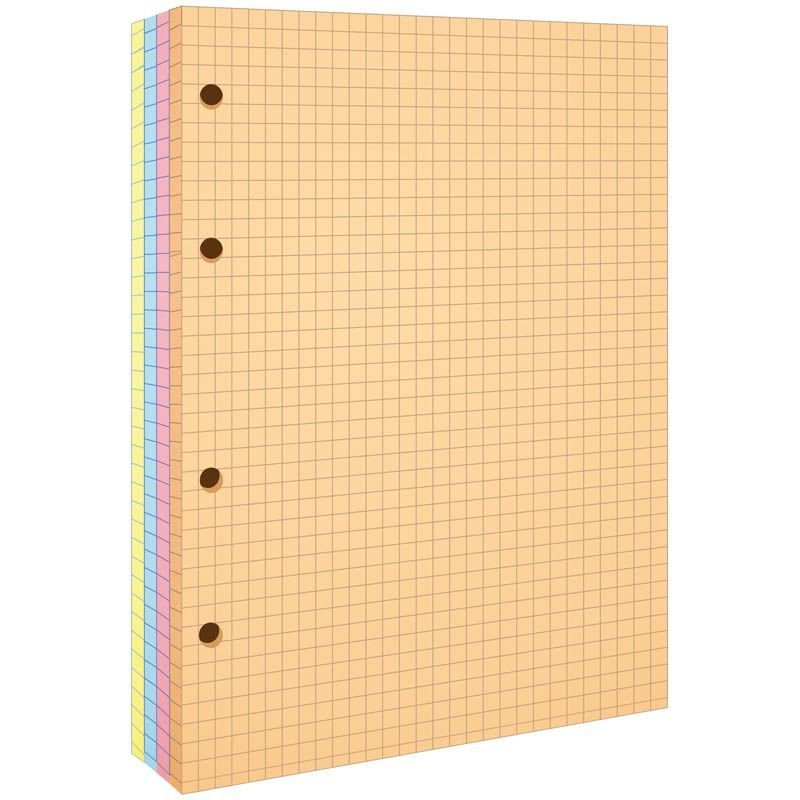 Сменный блок д/тетрадей 200л А5 4 цвета