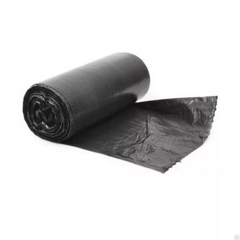 Мешки для мусора 30л 50х60см 14мкм 20шт/рул Слон особопрочные черные ПНД