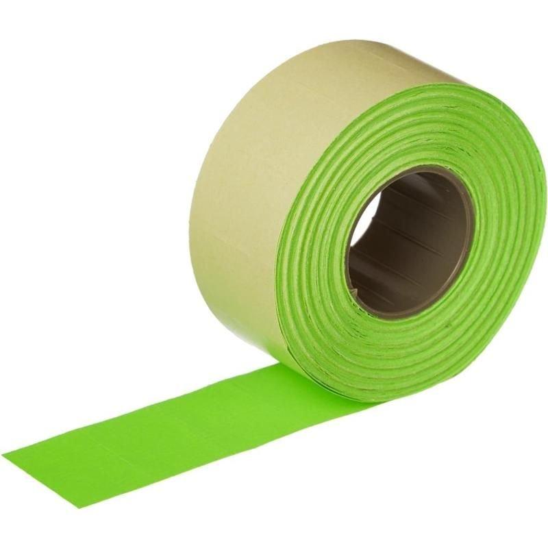 Этикет-лента 26х16мм прямоугольная зеленая