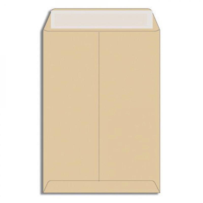 Конверт-пакет B4 плоский (250х353мм) крафт с отрывной полосой Multipack
