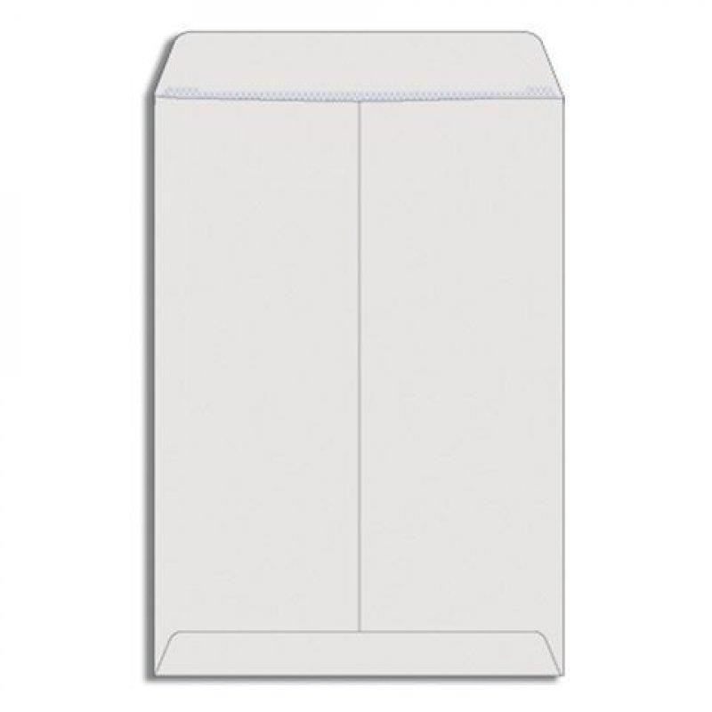 Конверт-пакет B4 плоский (250х353мм) белый с отрывной полосой Businesspack