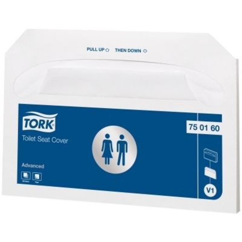 Покрытия на унитаз Tork Advanced бумажные 370х420мм 250шт/уп