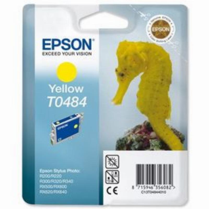 Картридж для Epson Stylus R200/R300/RX500/RX600 T0484 430стр желтый ориг