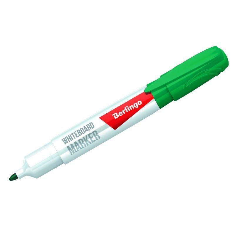 Маркер для белой доски Berlingo 2мм круглый наконечник зеленый