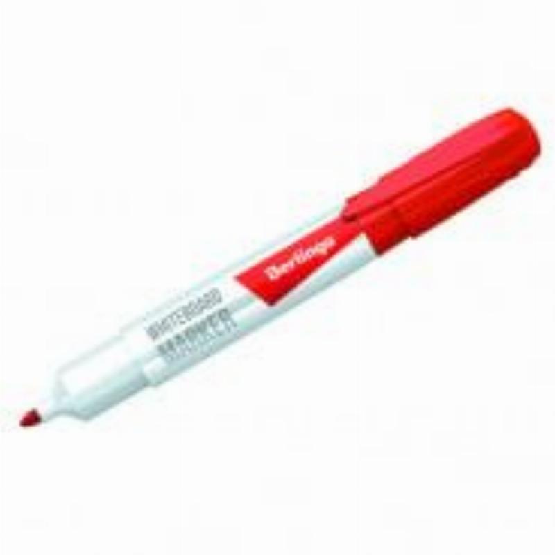 Маркер для белой доски Berlingo 2мм круглый наконечник красный