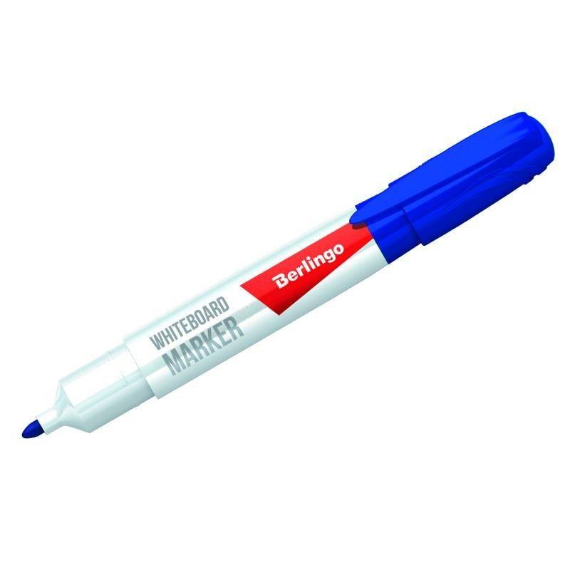 Маркер для белой доски Berlingo 2мм круглый наконечник синий