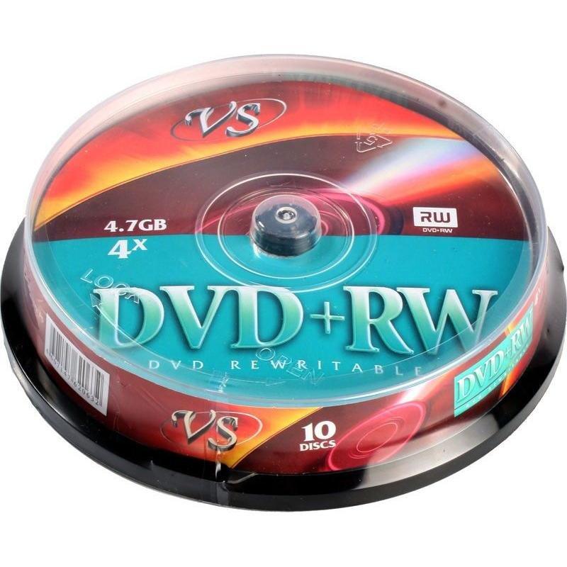 Диск DVD+RW 4.7Gb 4x туба 10шт