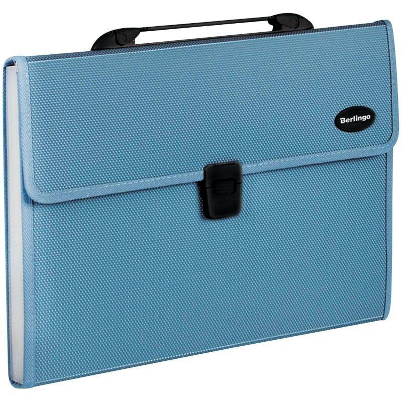 Портфель пластиковый 13-отд Berlingo Standard A4 330*240*40мм 1000мкм синий