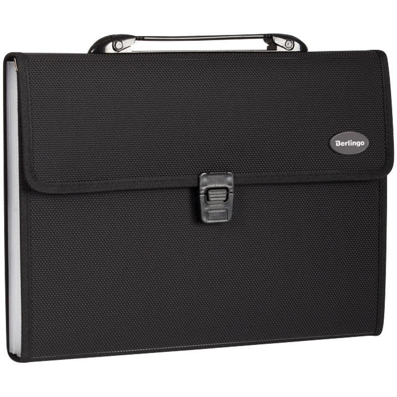 Портфель пластиковый 13-отд Berlingo Standard A4 330*240*40мм 1000мкм черный