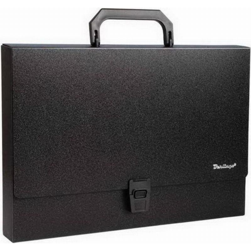 Портфель пластиковый 1-отд Berlingo Standard A4 325*230*35мм 1000мкм черный