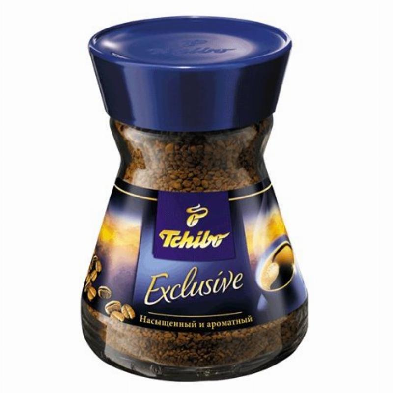 Кофе Tchibo Exclusive растворимый 190г стеклянная банка