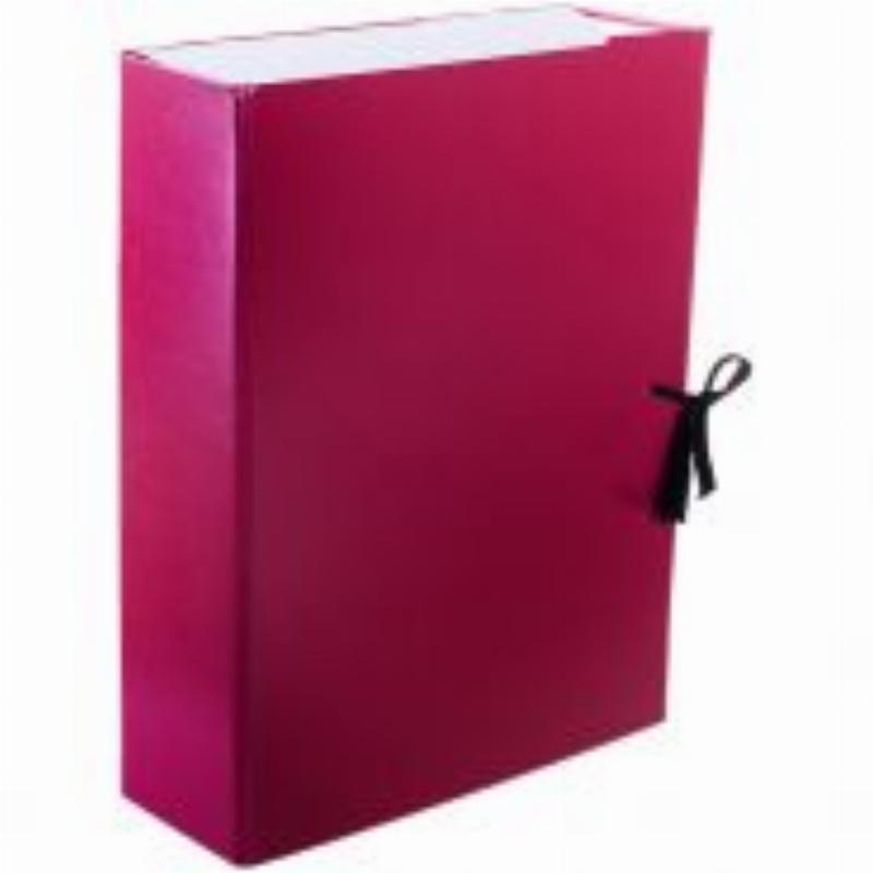 Короб архивный 80мм 2 завязки 700л бумвинил ассорти 320х240х180мм OfficeSpace