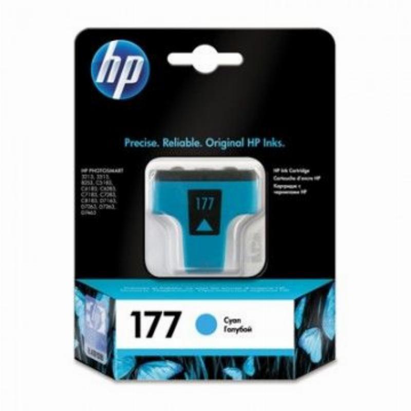 Картридж для HP Photosmart 3213/3313/8253/C5183/C6683/C6283 №177 C8771HE 400стр голубой ориг
