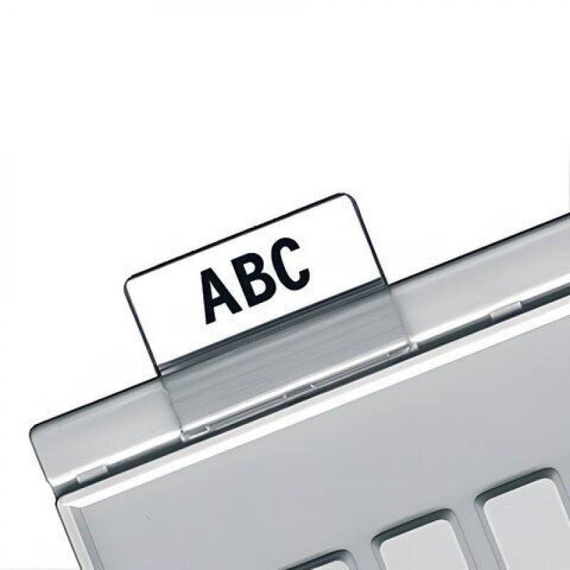 Картотечное индексное окно Han для разделителей А5 и А6 прозрачное 10шт/уп