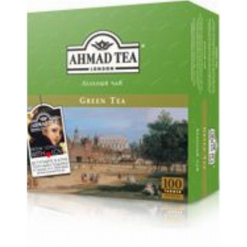 Чай Ahmad Green Tea 100шт в пакетиках зеленый