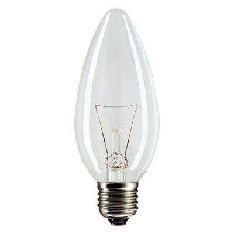 Лампа накаливания 60Вт Е27 свеча прозрачная