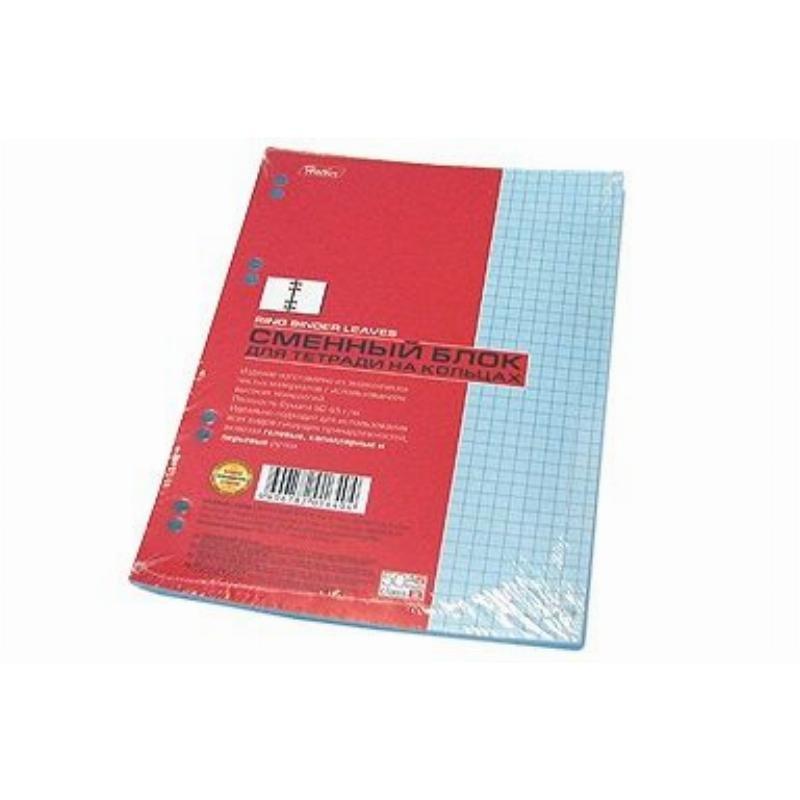 Сменный блок д/тетрадей 50л А5 Hatber бирюзовый