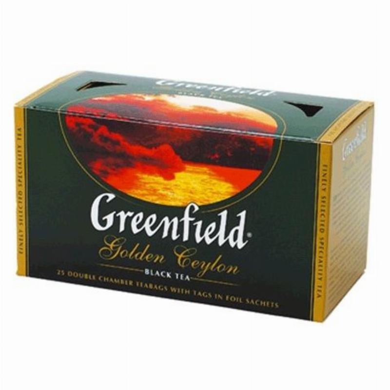 Чай Greenfield Golden Ceylon 25шт в пакетиках черный