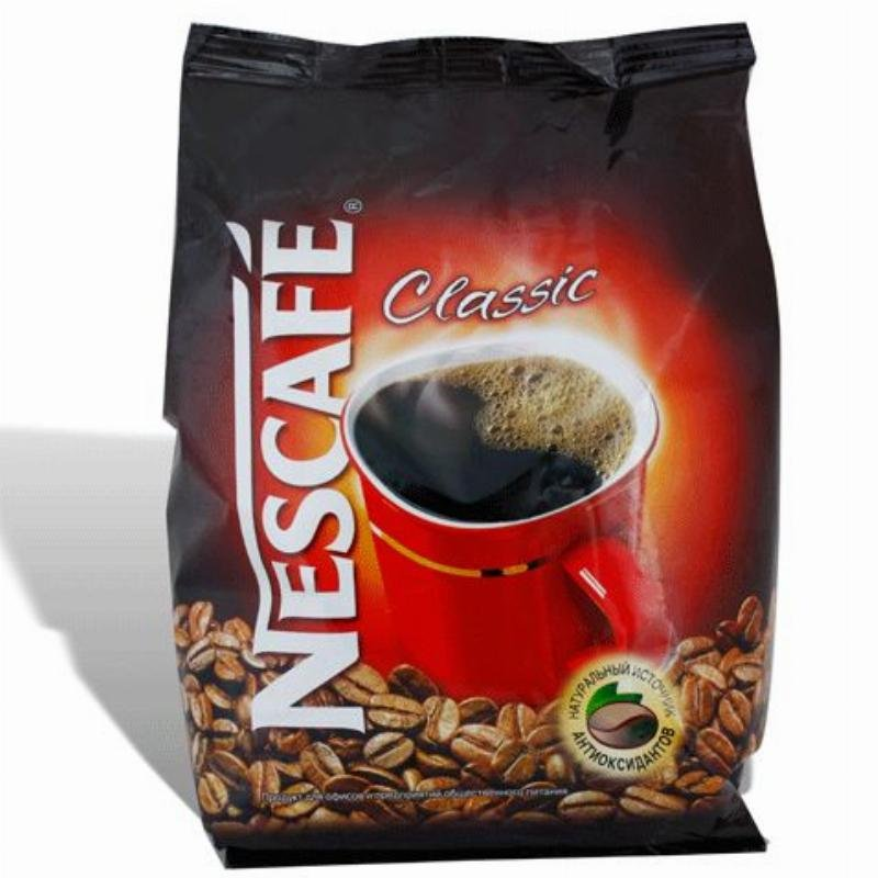Кофе Nescafe Classic растворимый 750г мягкая упаковка