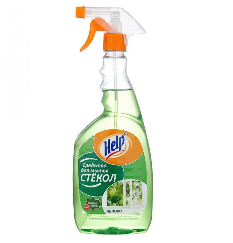 Средство для мытья стекол 500мл Help курок ассорти