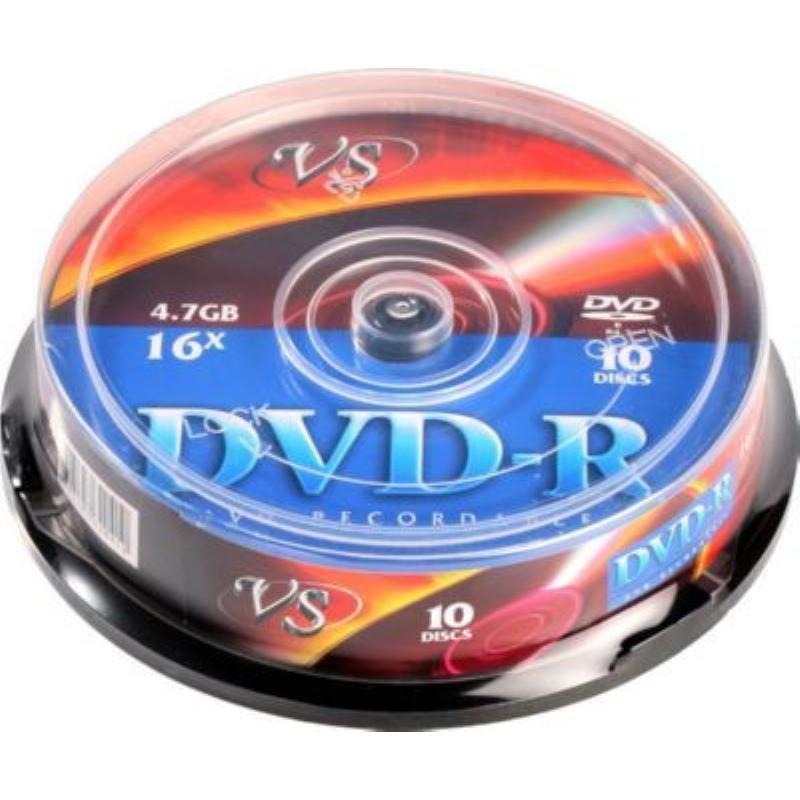 Диск DVD-R 4.7Gb 16x туба 10шт