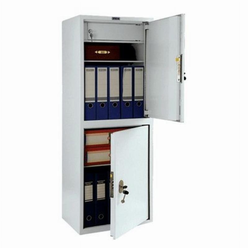 Шкаф металлический для документов 2 отделения Практик SL-125/2Т 1252х460х340мм 33кг