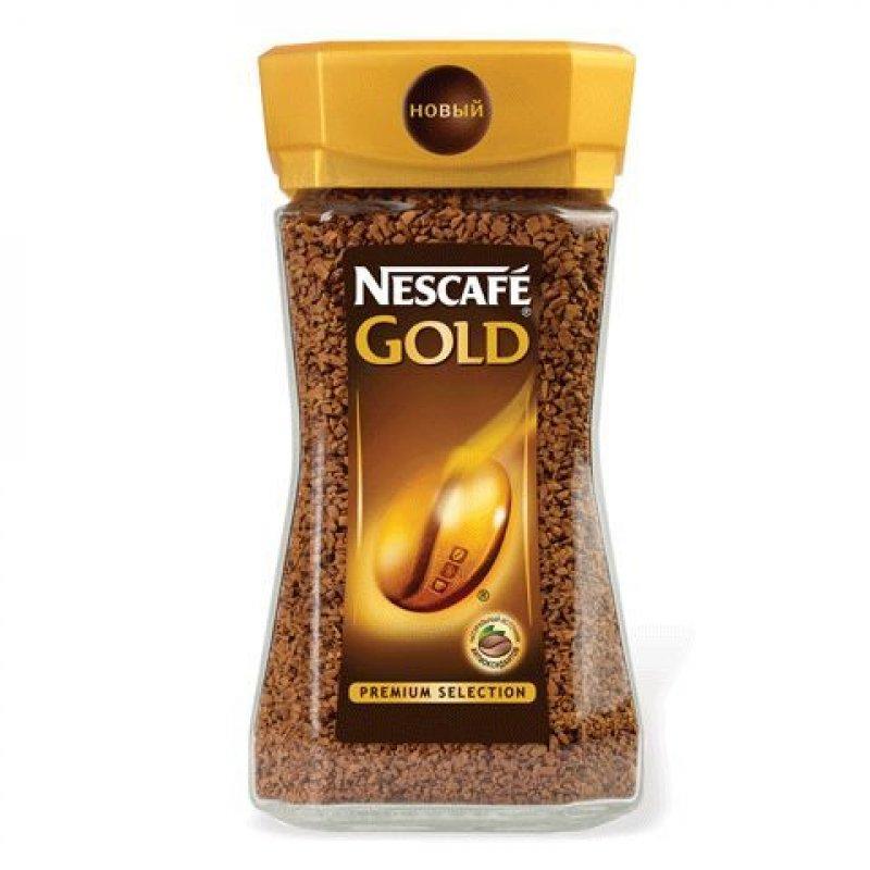 Кофе Nescafe Gold растворимый 95г стеклянная банка