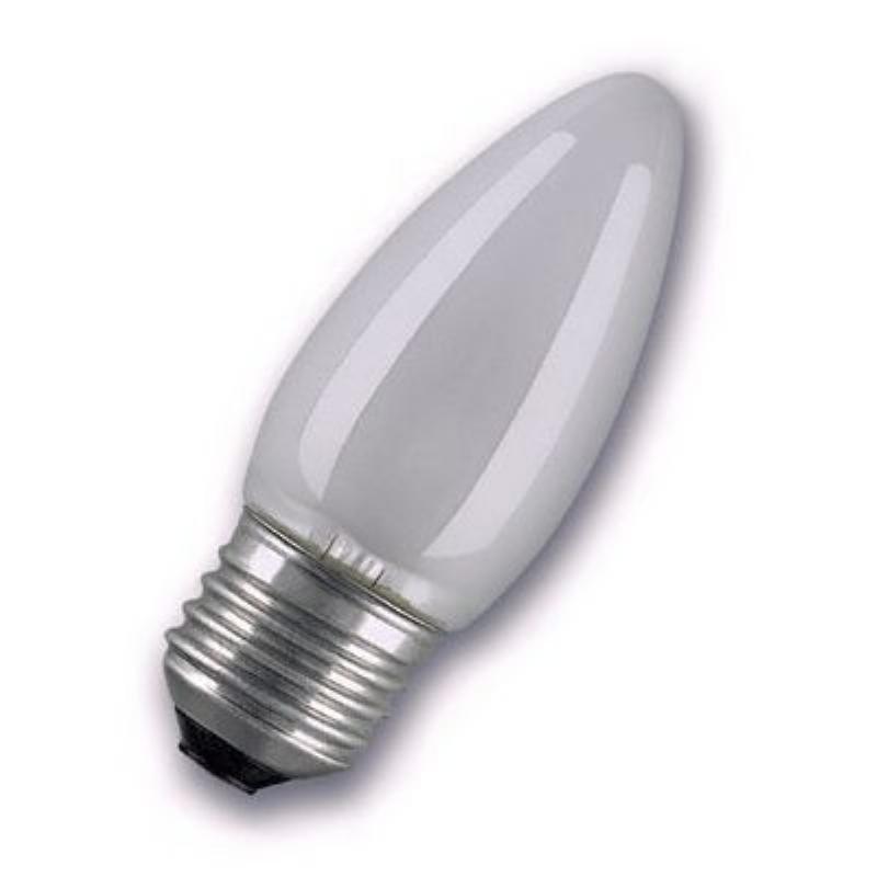 Лампа накаливания 40Вт Е27 cвеча матовая