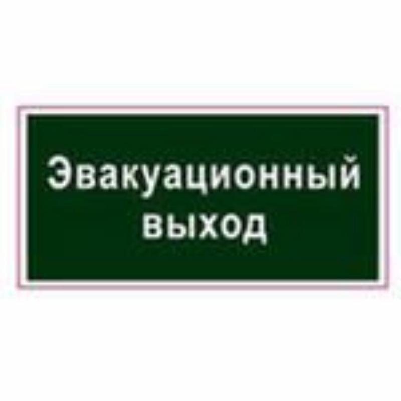 Знак вспомогательный Эвакуационный выход 300х150мм самоклейка