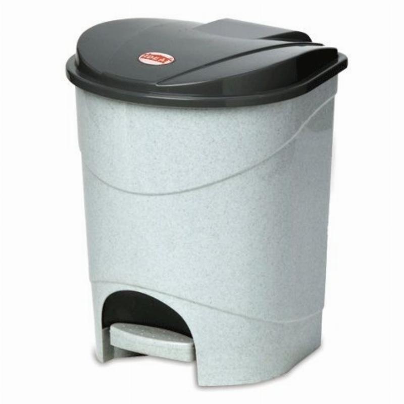 Контейнер для мусора 11л пластик педаль серый