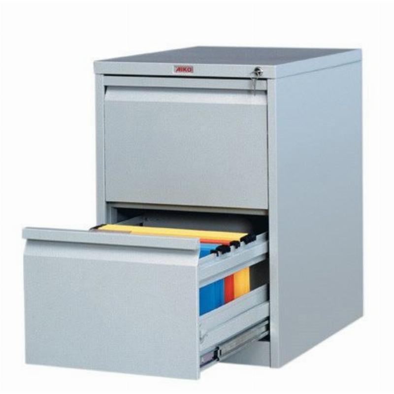 Шкаф металлический картотечный 2 ящика Практик AFC-02 710х466х631мм 35кг