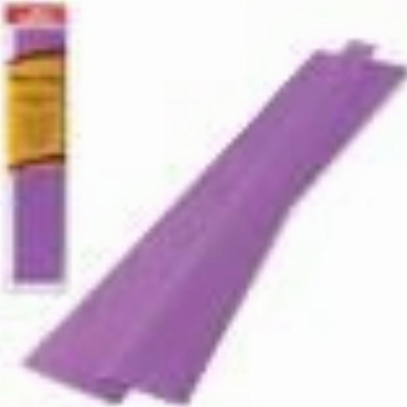 Бумага поделочная креп 50x250см темно-фиолетовая в рулоне