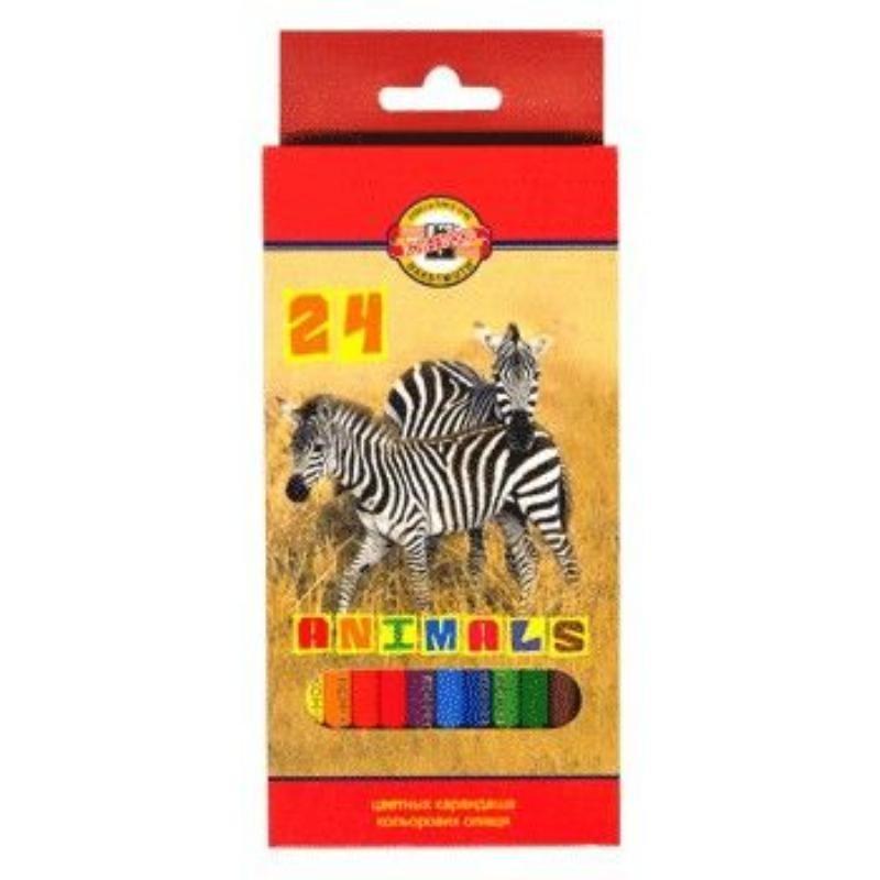 Карандаши 24цв Животные
