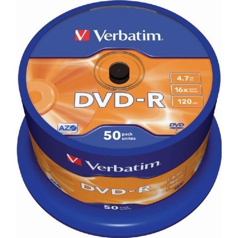 Диск DVD-R Verbatim 4.7Gb 16x туба 50шт
