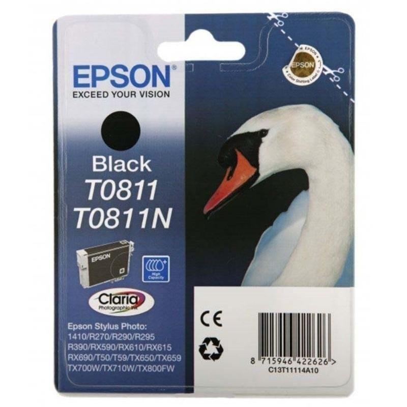 Картридж для Epson Stylus R270/R290/RX590 T0811 480-570cтр черный ориг