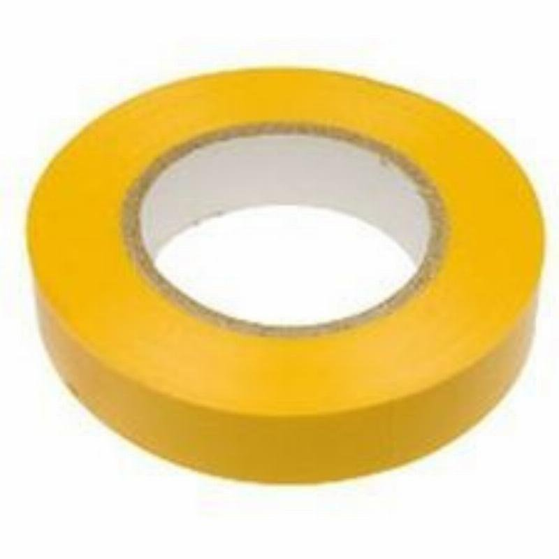 Изолента ПВХ желтая 15х10