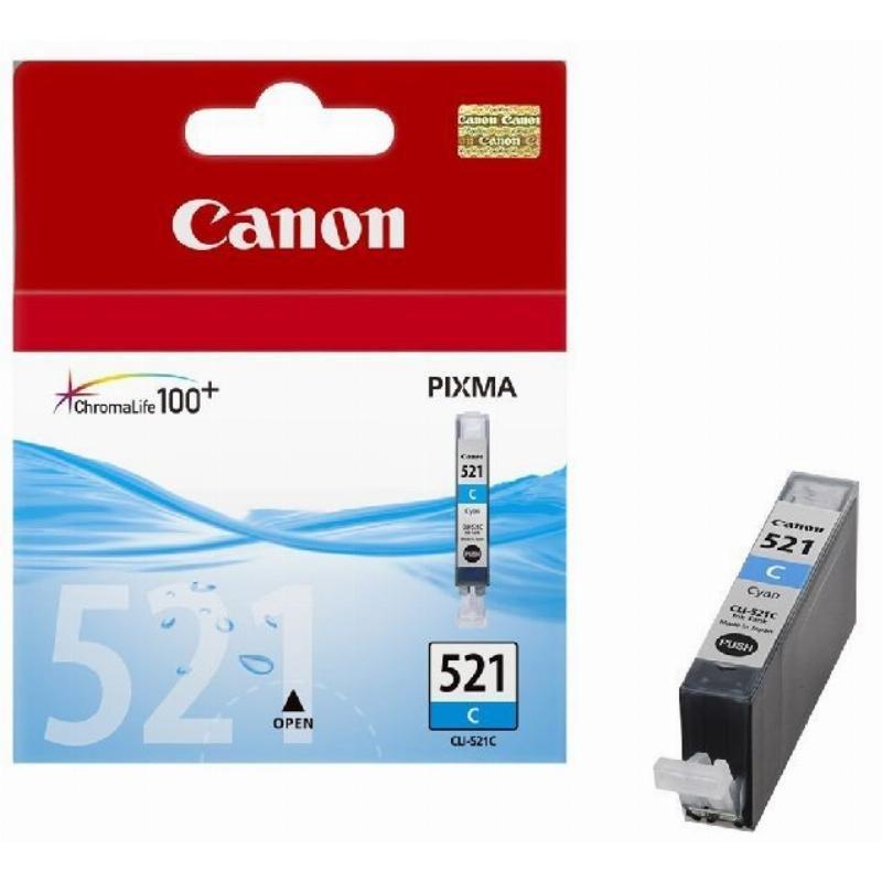Картридж для Canon Pixma iP3600/4600/MP540/620/630/980 CLI-521С 535стр голубой ориг