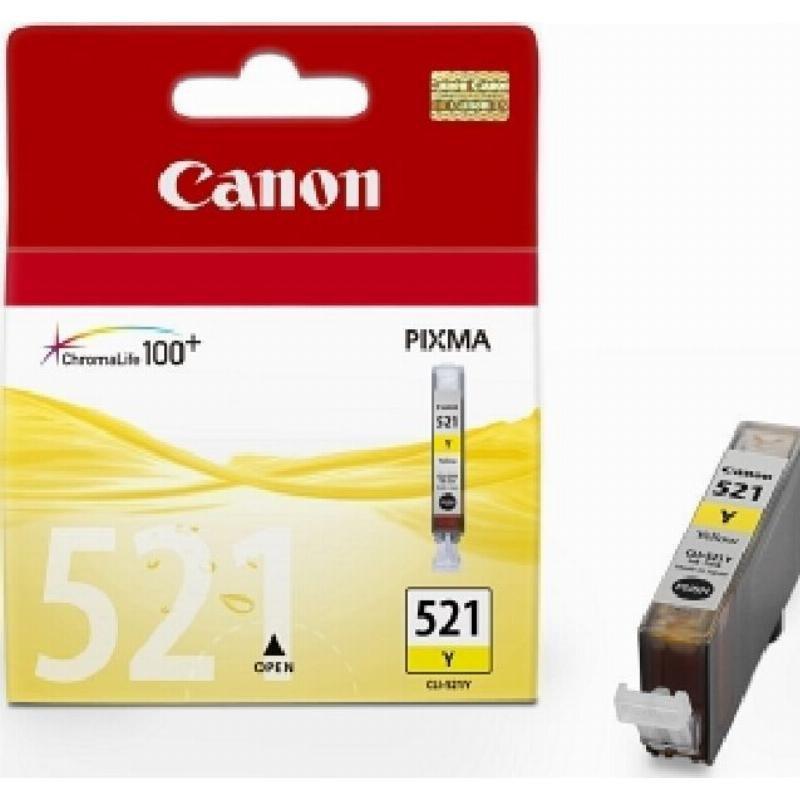 Картридж для Canon Pixma iP3600/4600/MP540/620/630/980 CLI-521Y 505стр желтый ориг