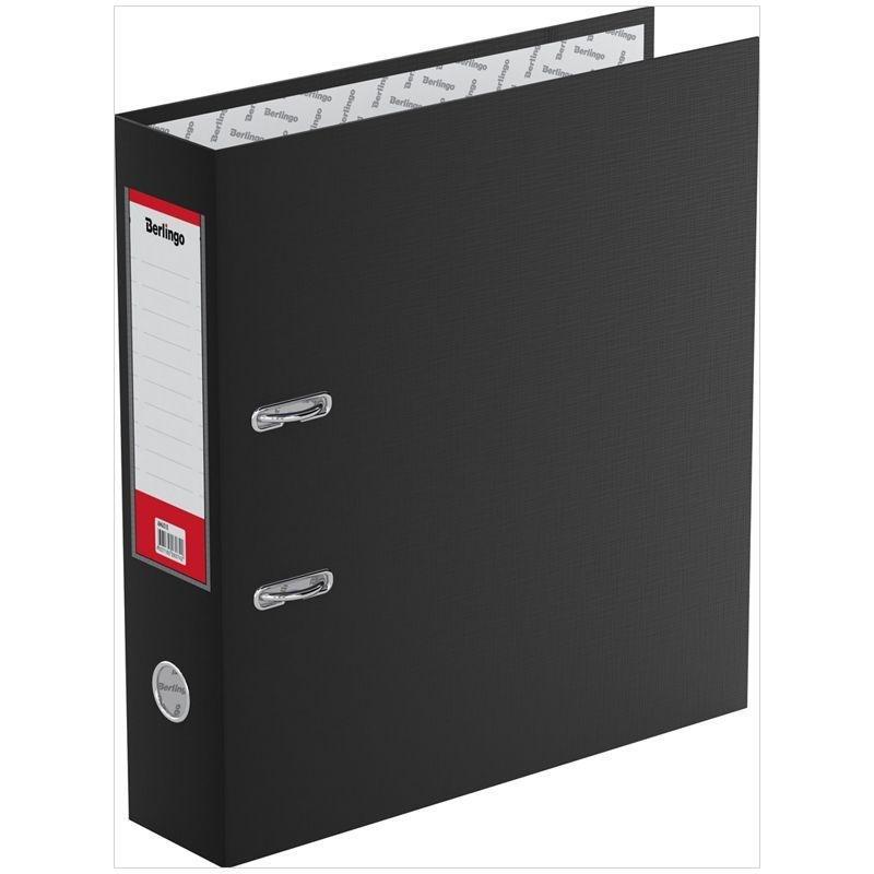 Папка-регистратор 70мм Berlingo Standard бумвинил карман черная