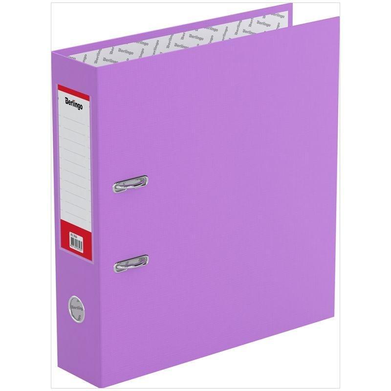 Папка-регистратор 70мм Berlingo Standard бумвинил карман сиреневая