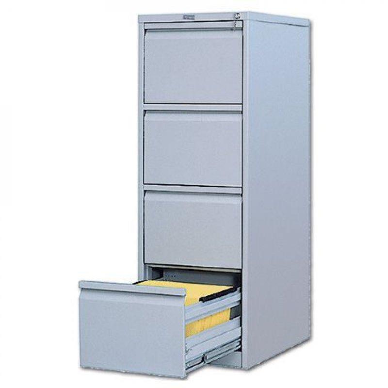 Шкаф металлический картотечный 4 ящика Практик AFC-04 1330х466х631мм 65кг
