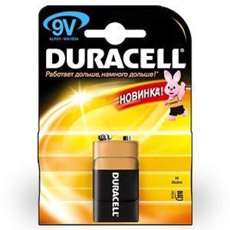Батарейка Duracell 6LR61 Крона (1шт в блистере)
