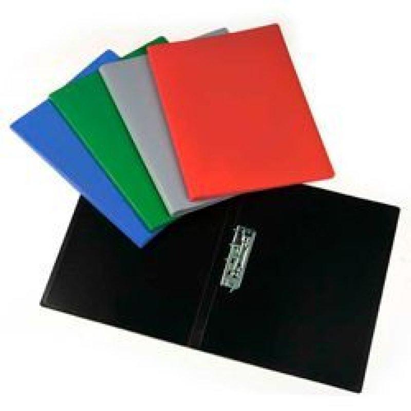 Папка-скоросшиватель с боковым зажимом Бюрократ Эко 0,4мм пластик ассорти