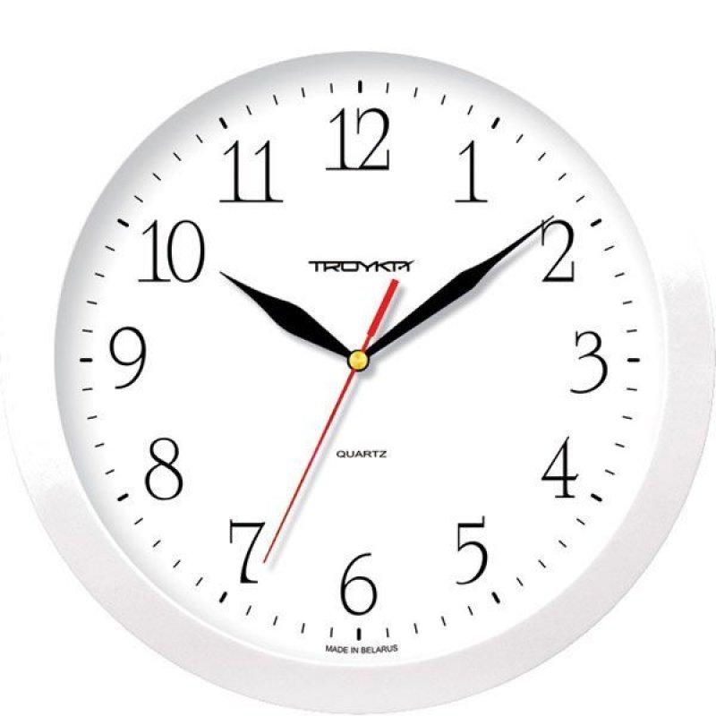 Часы настенные В-Тройка 11110113 круг белые 290мм